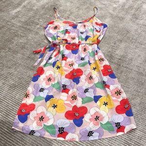 Silk Floral Tucker Dress